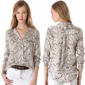 Equipment Kiera python silk blouse small